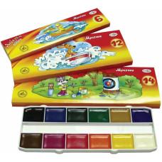 Краски акварельные (без кисти) Гамма Мультики, 12 цветов (211048)