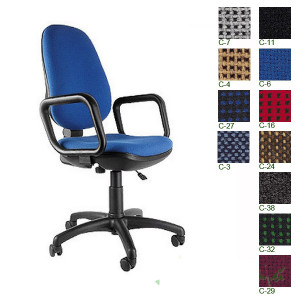 Кресло офисное COMFORT GTP ткан обивка (цвет С-11, черное)