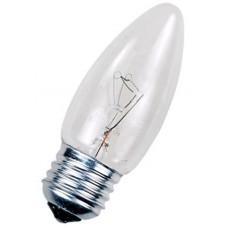 Лампа накаливания 60 Вт, (СВЕЧА) цоколь E27 (прозрачная)