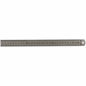 Линейка металлическая 30 см BuroMax (шкала в см и дюймах)  (BM.5810-30)