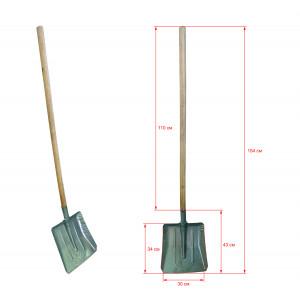 Лопата снегоуборочная оцинк с черенком
