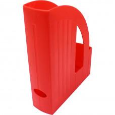 Лоток вертик пластик Арника со стенкой красный (80522)
