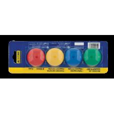 Магниты цветные круглые BuroMax d/30 мм х 4 шт (BM.0022-43)