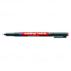 Маркер для пленок красный 0,3 мм кругл након Edding 140