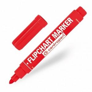 Маркер для флипчартов красный 2,5 мм кругл након Centropen 8550