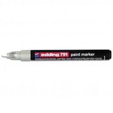 Маркер лакирующий белый 1-2 мм Edding 791