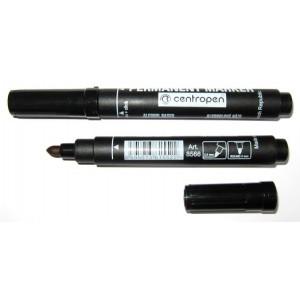 Маркер перм черный 2,5 мм круг након Centropen 8566