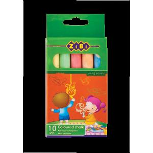 Мел цветной ZIBI 10 шт/уп картон упаковка (ZB.6700-99)