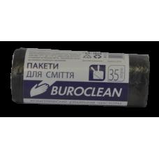 Мешки для мусора 35 л х 30 шт 45 х 55 см 7 мкм (HD) BuroClean черные (10200011)