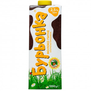 Молоко Буренка 2,5% 1000 гр