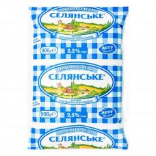 Молоко Селянское, 2,5%, 900 гр (мягкая карт.упаковка)