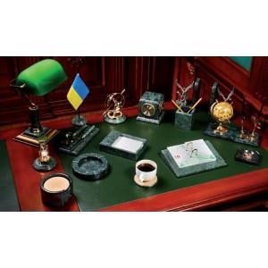 Набор настольный 15 предм BuroMax зеленый мрамор (BM.6600-15)
