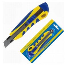 Нож канцелярский большой с мет. направл., резин. вставки BuroMax 18 мм (BM.4618)