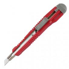 Нож канцелярский малый с мет. направл. Axent 9 мм 2 запасн лезвия (6601-A)