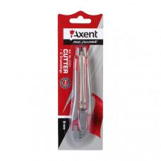 Нож канцелярский малый с мет. направл., резин. вставки Axent 9 мм (6701-A)