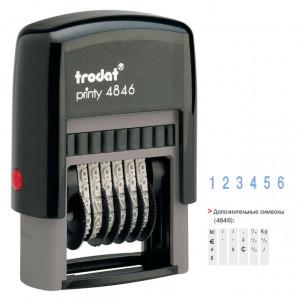 Нумератор пластмасовый 6-ти разрядный TRODAT 4846, 4 мм