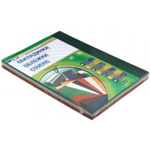 Обложка для биндера картон глянцевая 1сторон А4 230-250 г/м2 100 шт (5 цв х 20 л)