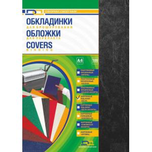 Обложка для биндера картон глянцевая 1сторон А4 230-250 г/м2 черная 100 шт/уп