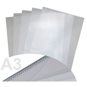 Обложка для биндера пластик А3 180 мкм прозрачная 100 шт/уп