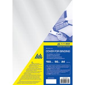 Обложка для биндера пластик А4 150 мкм прозрачная 100 шт/уп BUROMAX