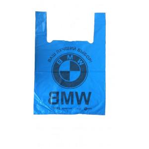 Пакет полиэтилен Майка 42 х 70 см BMW черные (50 шт)