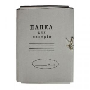 Папка на завязках клееный клапан картон (А4) 0,35 мм