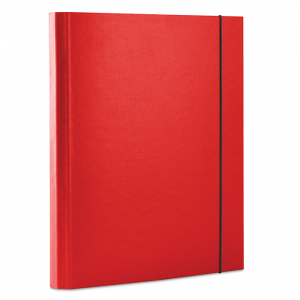Папка на резинке картон (A4) DONAU красная (2076001PL-04)