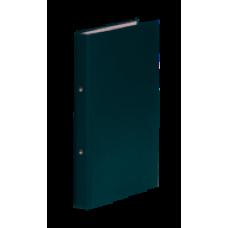 Папка 2 кольца картон (A4) Donau d-20 мм 35 мм полипропилен покр зеленая (3732001-06)
