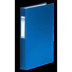 Папка 2 кольца картон (A4) Donau d-25 мм 40 мм полипропилен покр синяя (3734001-10)