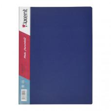 Папка с файлами 20 ф (А4) Axent синяя (1020-02-A)