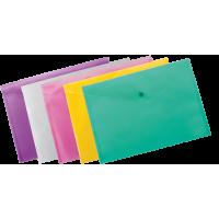 Папка на кнопке пластик (А4) BuroMax прозрач ассорти (BM.3926-99)