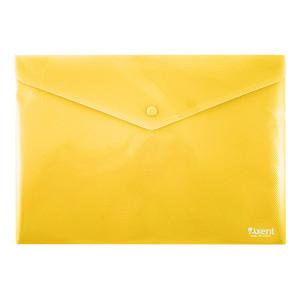 Папка на кнопке пластик (А4) Axent непрозрачная желтая (1412-26-A)