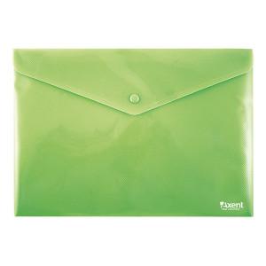 Папка на кнопке пластик (А4) Axent непрозрачная зеленая (1412-25-A)