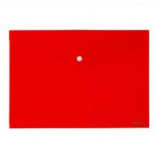 Папка на кнопке пластик (А4) Axent непрозрачная красная (1412-24-A)