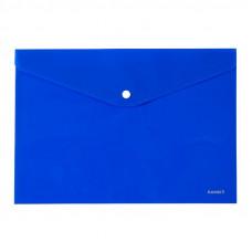Папка на кнопке пластик (А4) Axent непрозрачная синяя (1412-22-A)
