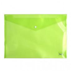 Папка на кнопке пластик (А4) Axent полупрозрачн зеленая (1402-25-A)