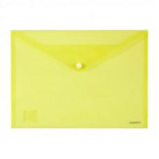 Папка на кнопке пластик (А4) Axent полупрозрачн оранж (1402-26-A)