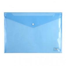 Папка на кнопке пластик (А4) Axent полупрозрачн синяя (1402-22-A)