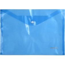 Папка на кнопке пластик (А4) Axent полупрозрачн синяя (D1402-22)