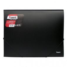 Папка на резинке пластик (А3) Axent 4-35 мм черная (1506-01-a)