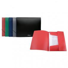 Папка на резинке пластик (А4) Axent 35 мм зеленая (D1521)
