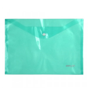 Папка на кнопке пластик (А4) Axent полупрозрачн зеленая (D1402-25)