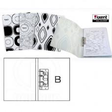 Папка с боковым зажимом пластик (A4) Axent Black&White 20 мм черно-белая (1301-50)