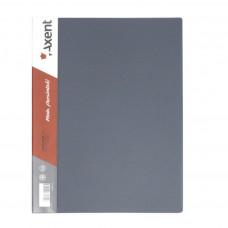 Папка с боковым зажимом пластик (A4) Axent 20 мм серая (1301-03-A)