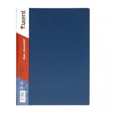 Папка с боковым зажимом пластик (A4) Axent 20 мм синяя (1301-02-A)