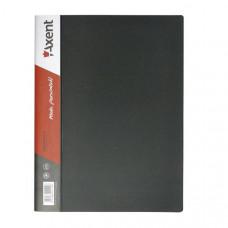 Папка с боковым зажимом пластик (A4) Axent 20 мм черная (1301-01-A)
