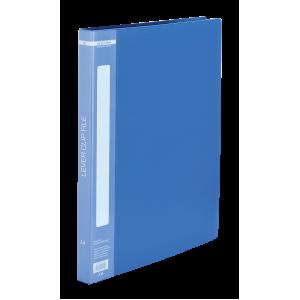 Папка с боковым зажимом пластик (A4) Buromax 20 мм синяя (BM.3402-02)