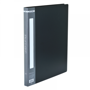 Папка с боковым зажимом пластик (A4) Buromax 20 мм черная (BM.3402-01)