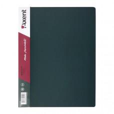 Папка с пружинным скоросшивателем пластик (А4) Axent 20 мм зеленая (1304-05-A)