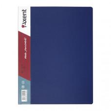 Папка с пружинным скоросшивателем пластик (А4) Axent 20 мм синяя (1304-02-A)